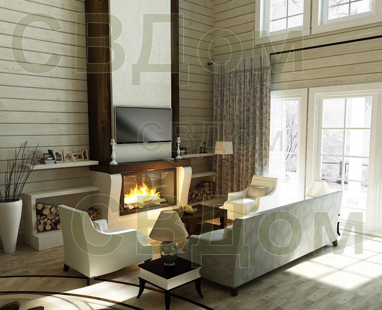 фотогалерея дома из клееного бруса дизайн интерьера в доме из